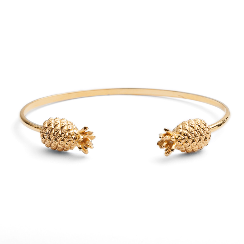 Pineapple Bangle - Gold