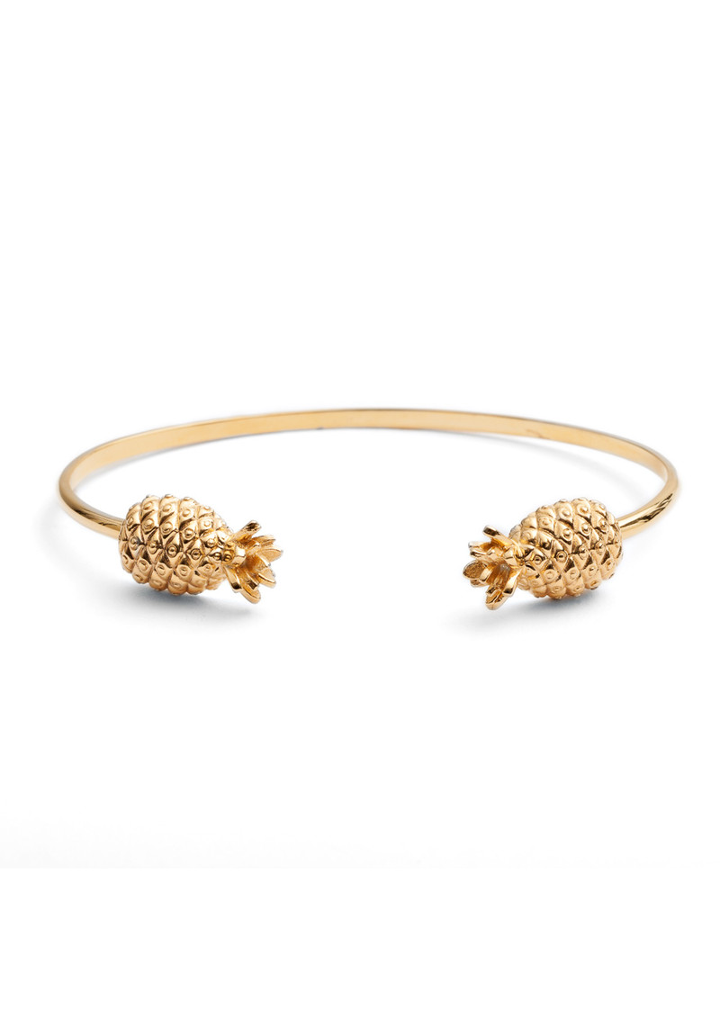 RACHEL JACKSON Pineapple Bangle - Gold main image