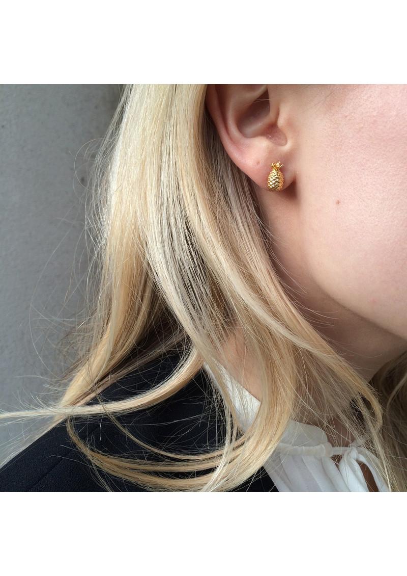 RACHEL JACKSON Pineapple Stud Earrings - Gold main image