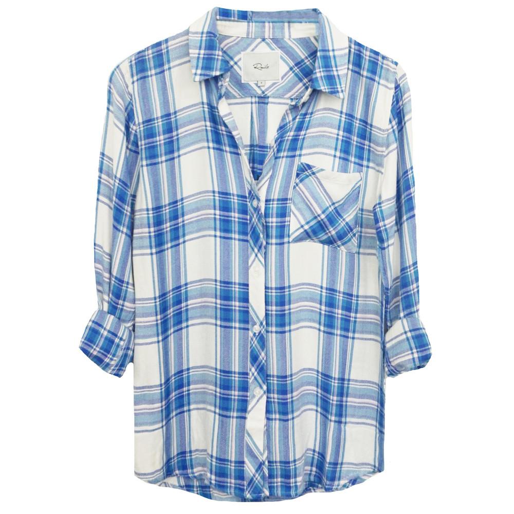 Hunter Shirt - White, Blue & Lilac