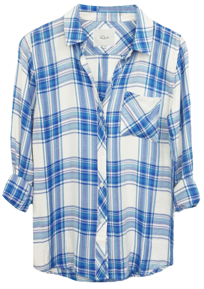 Rails Hunter Shirt - White, Blue & Lilac main image