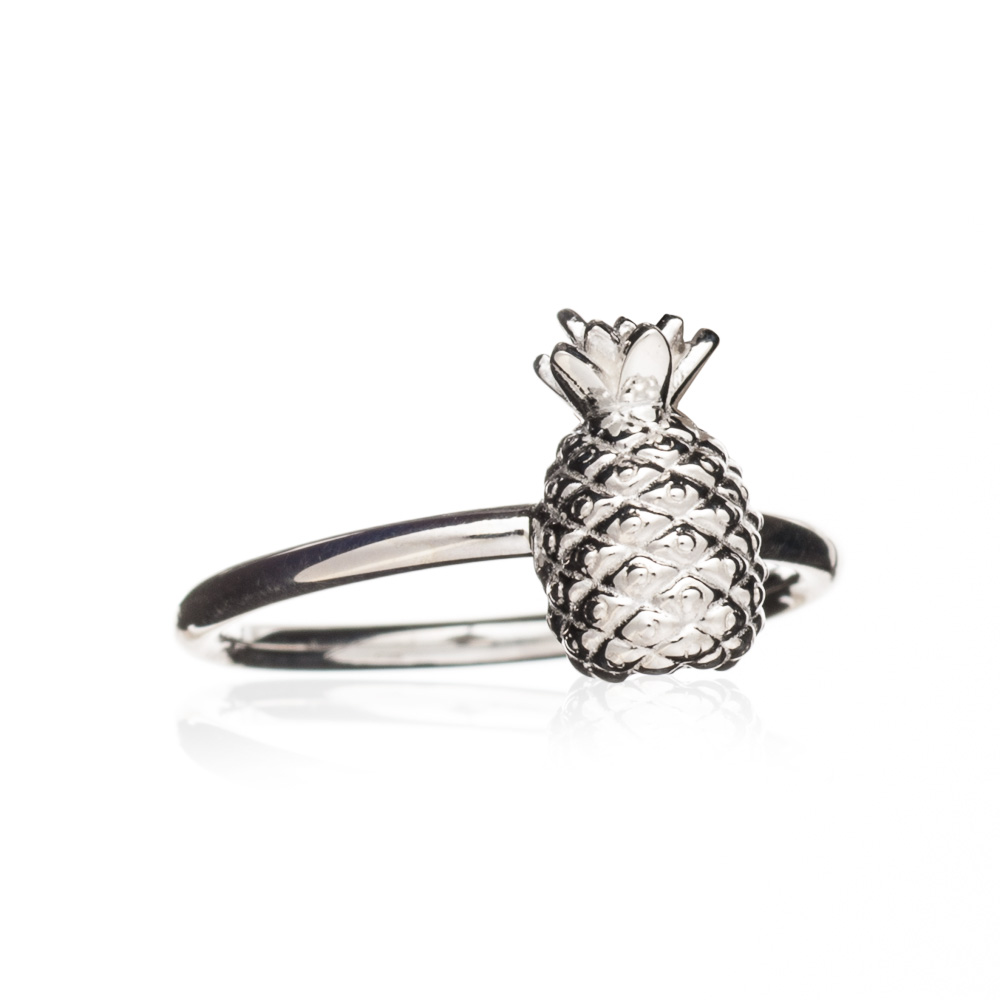 Adjustable Pineapple Ring - Silver