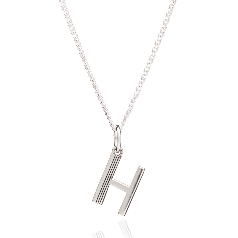 This Is Me 'H' Alphabet Necklace - Silver