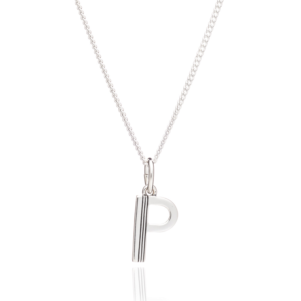 This Is Me 'P' Alphabet Necklace - Silver