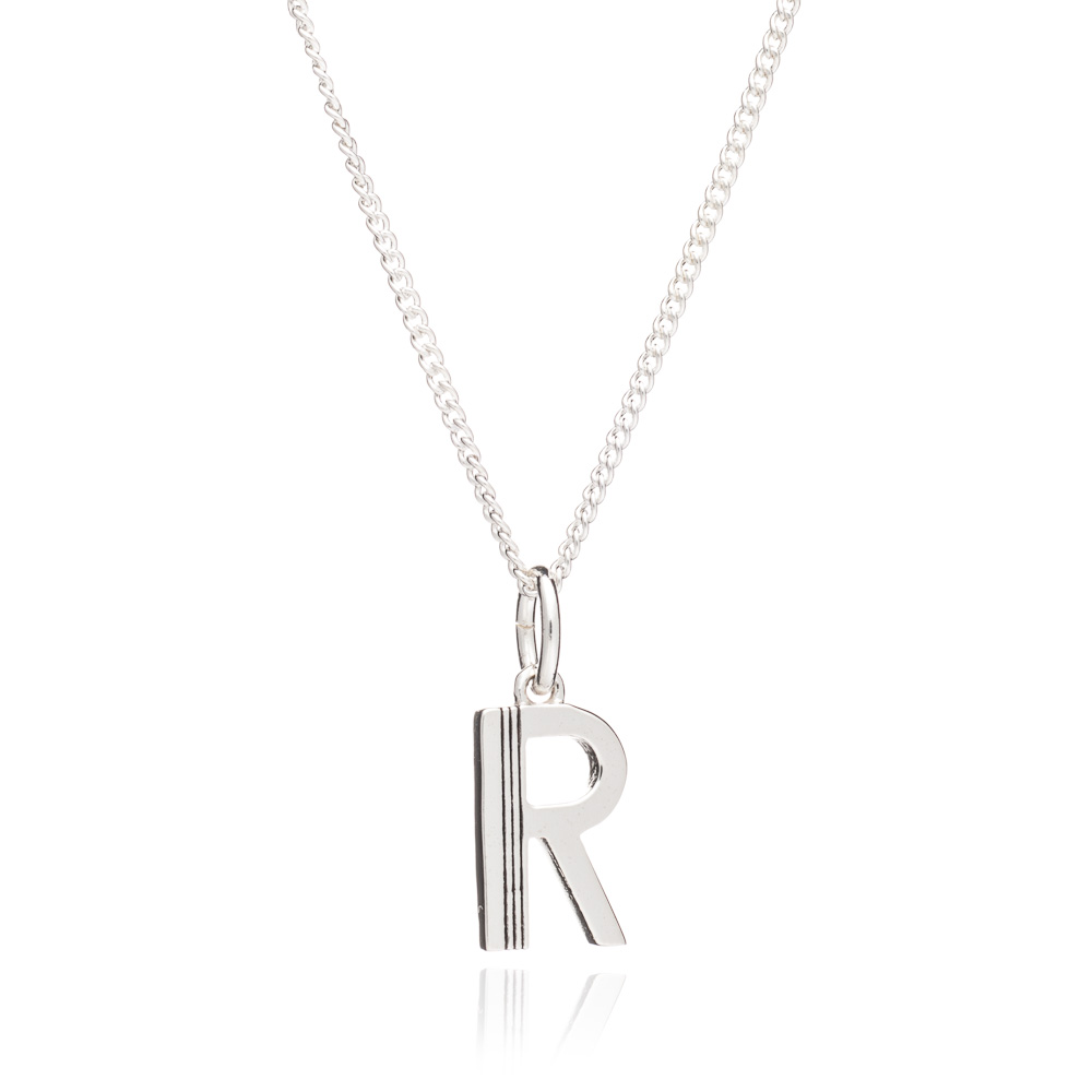 This Is Me 'R' Alphabet Necklace - Silver