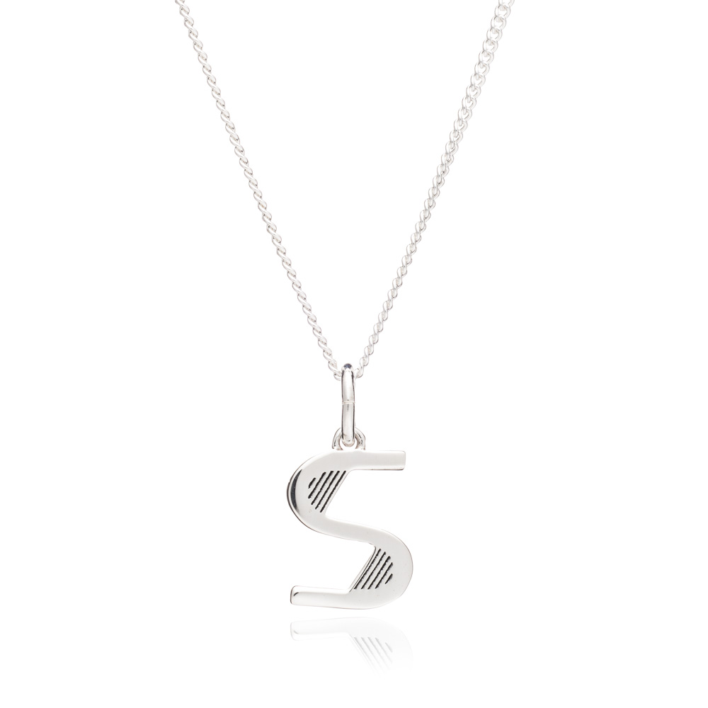 This Is Me 'S' Alphabet Necklace - Silver