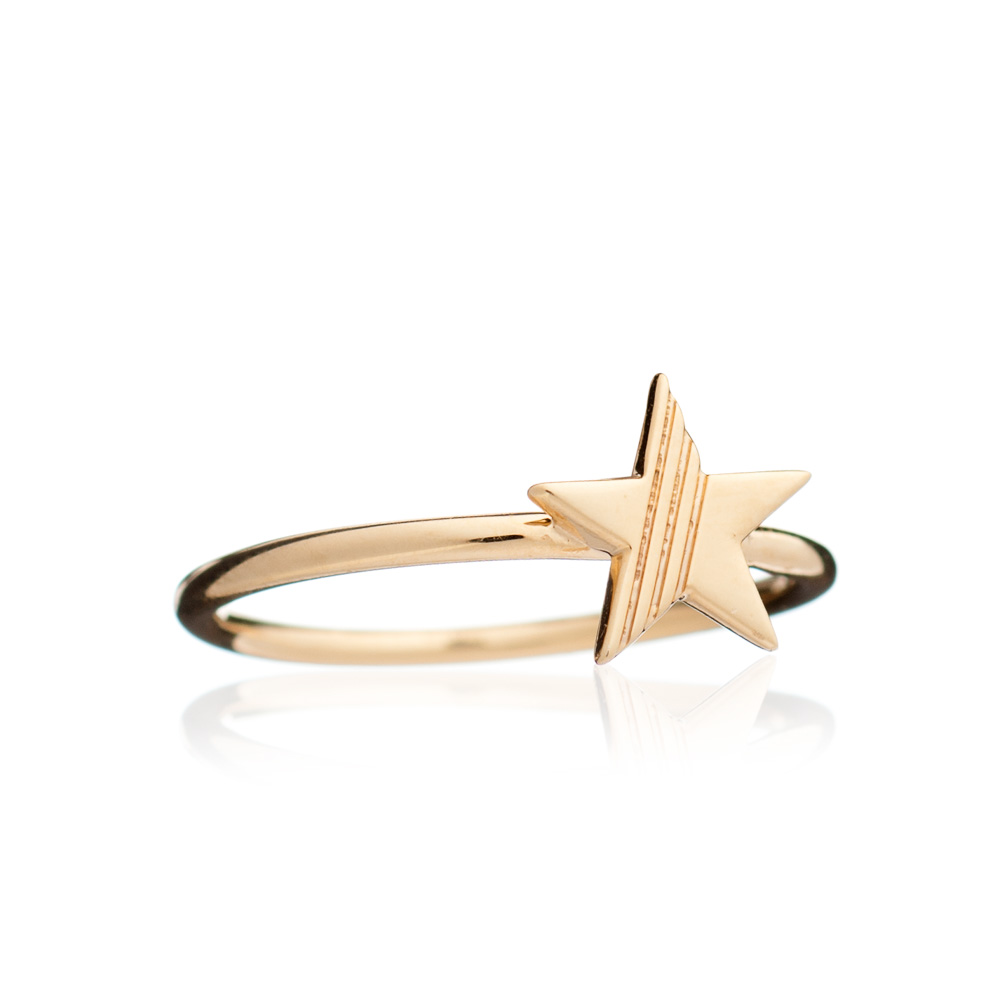 Adjustable Star Ring - Gold