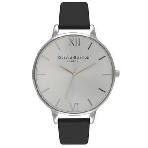 Big Dial Watch - Black & Silver