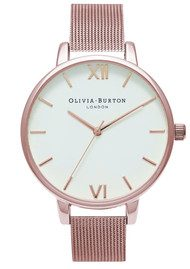 Olivia Burton Big Dial Mesh Watch - Rose Gold