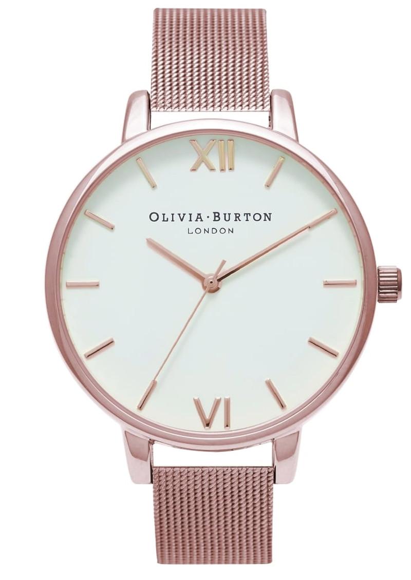 Olivia Burton Big Dial Mesh Watch - Rose Gold main image