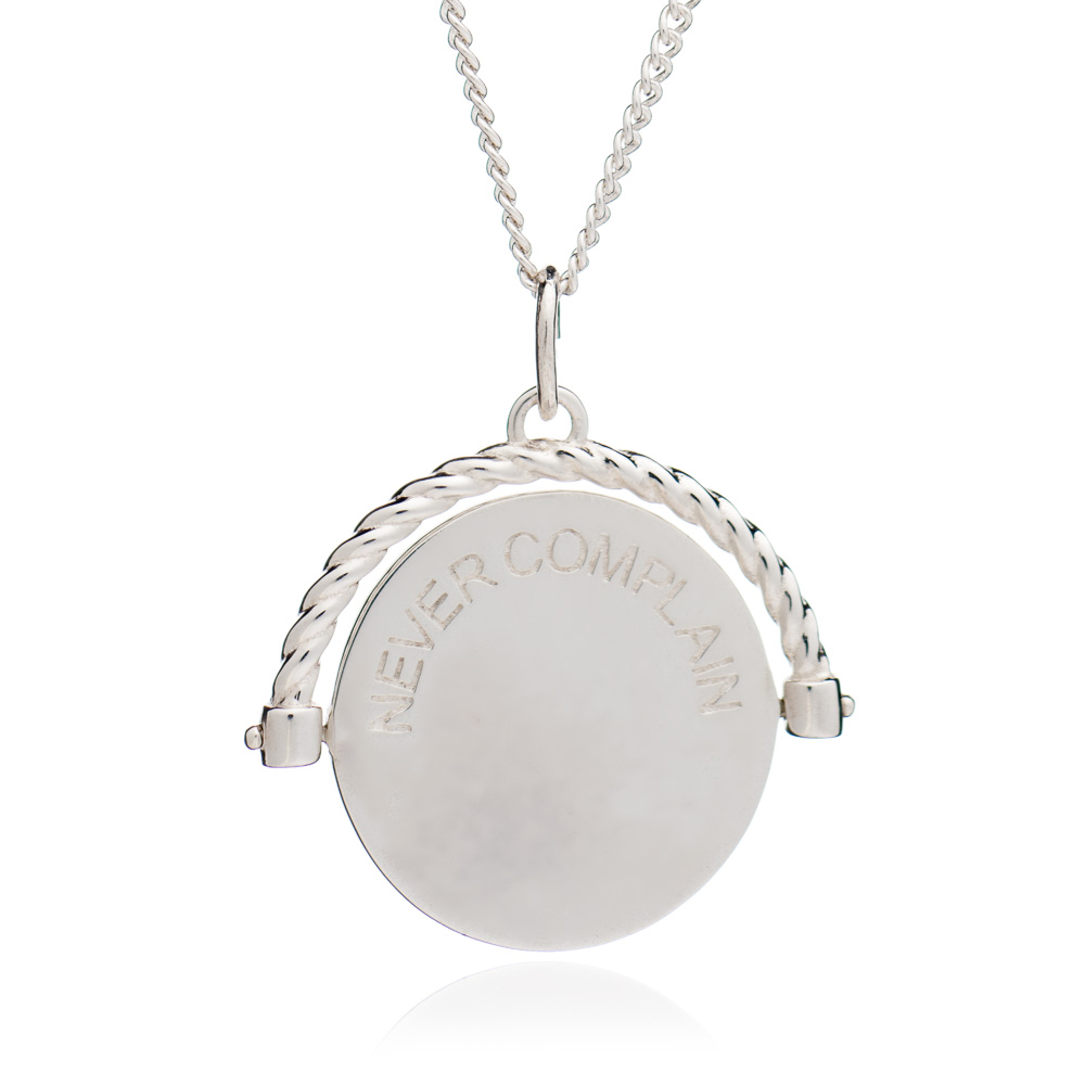 Never Complain Necklace - Silver