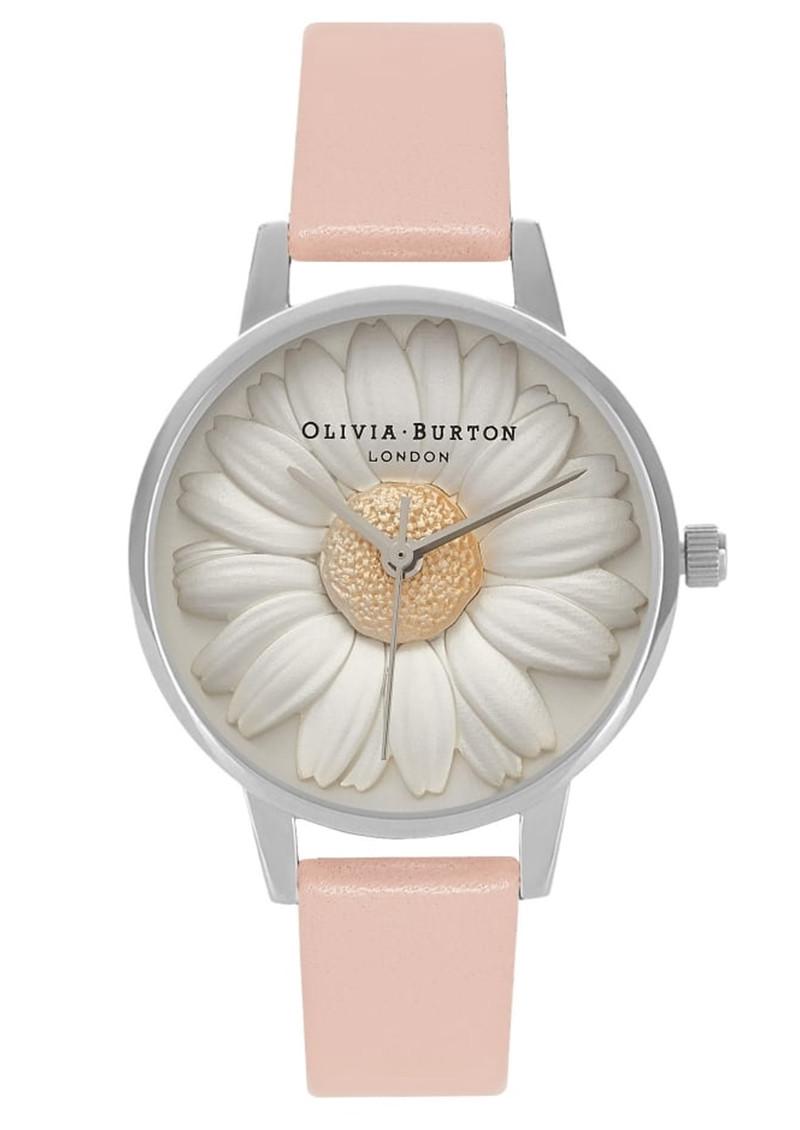 Olivia Burton Flower Show 3D Daisy Watch - Dusty Pink & Silver main image