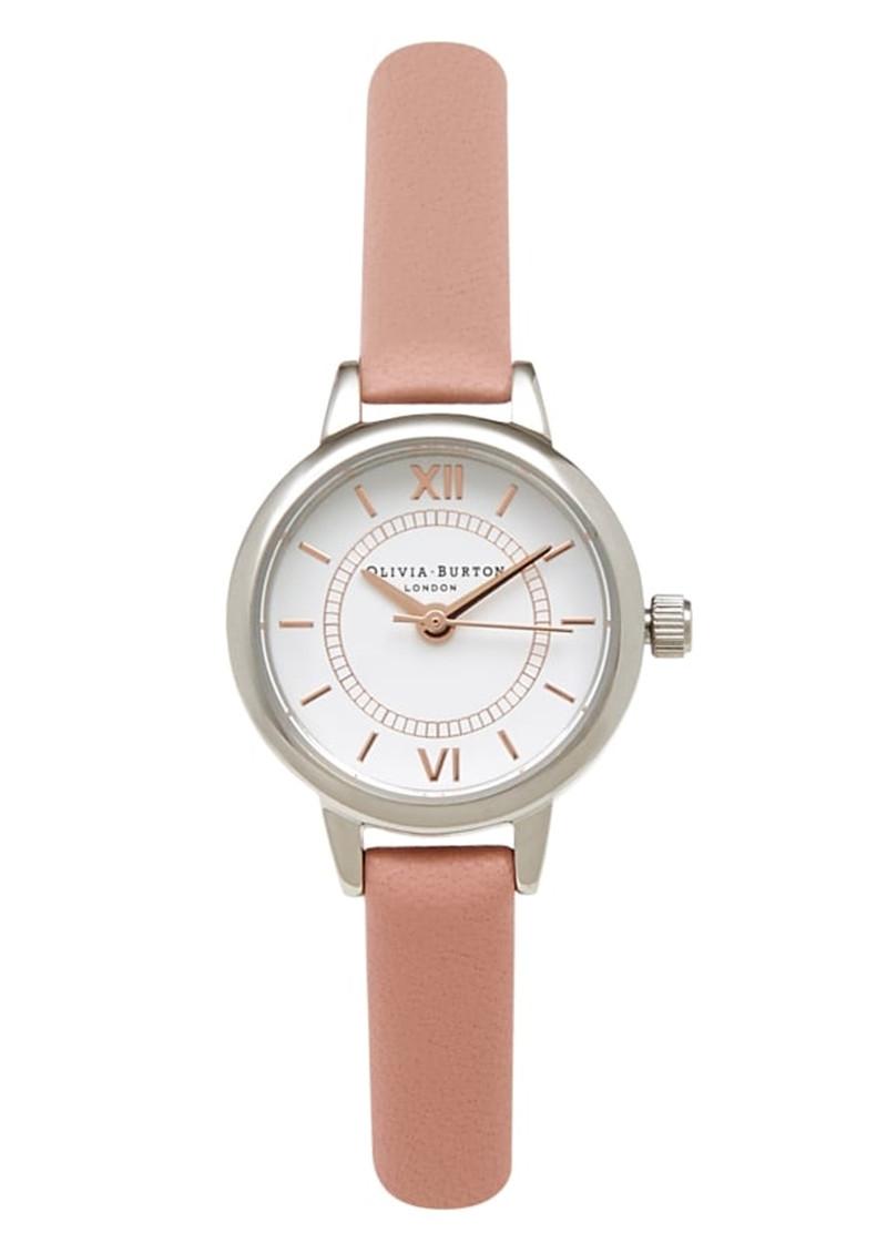 Olivia Burton Mini Wonderland Watch - Dusty Pink, Silver & Gold main image
