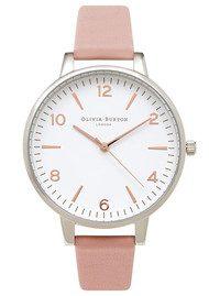 Olivia Burton Modern Vintage Large White Face Watch - Pink, Silver & Rose Gold