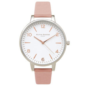 Modern Vintage Large White Face Watch - Pink, Silver & Rose Gold