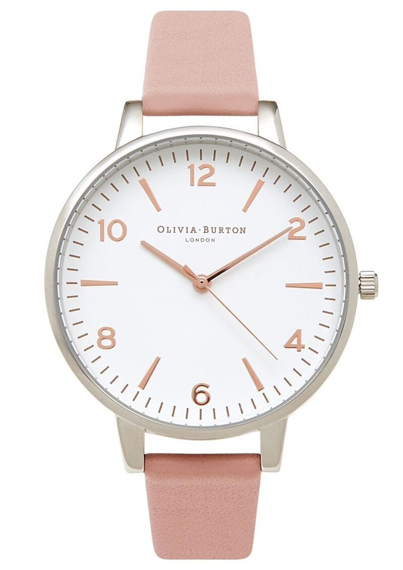 Olivia Burton Modern Vintage Large White Face Watch - Pink, Silver & Rose Gold main image