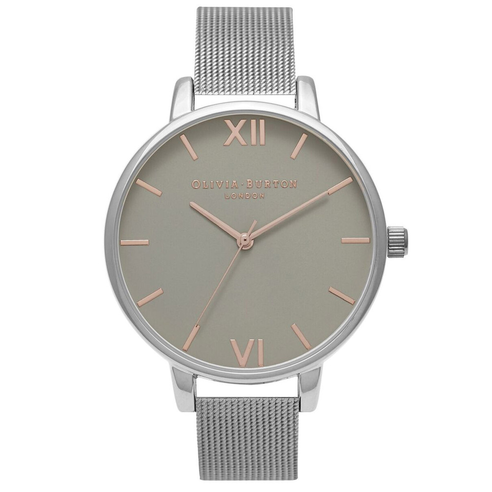 Big Dial Mesh Watch - Silver