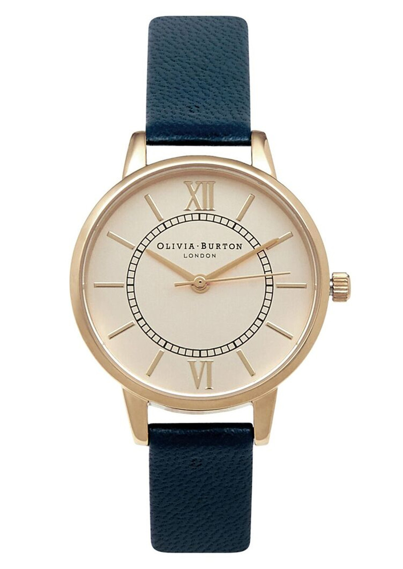 Olivia Burton Wonderland Watch - Navy & Gold main image