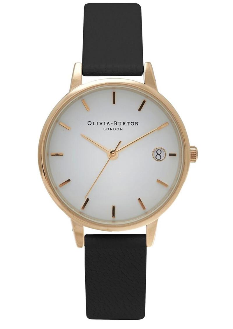 Olivia Burton The Dandy Midi Dial Watch - Black & Gold main image