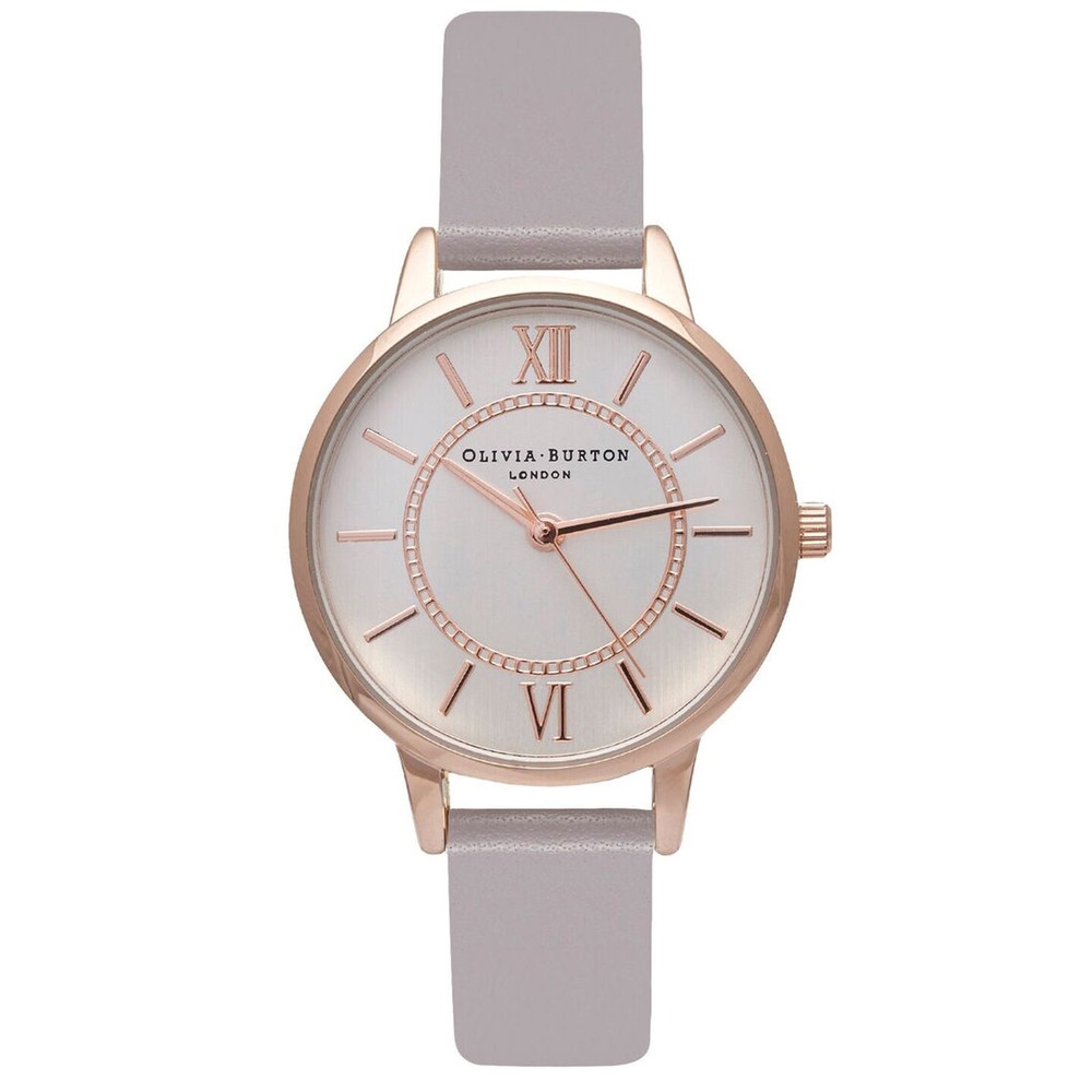 Wonderland Watch - Grey Lilac, Rose Gold & Silver