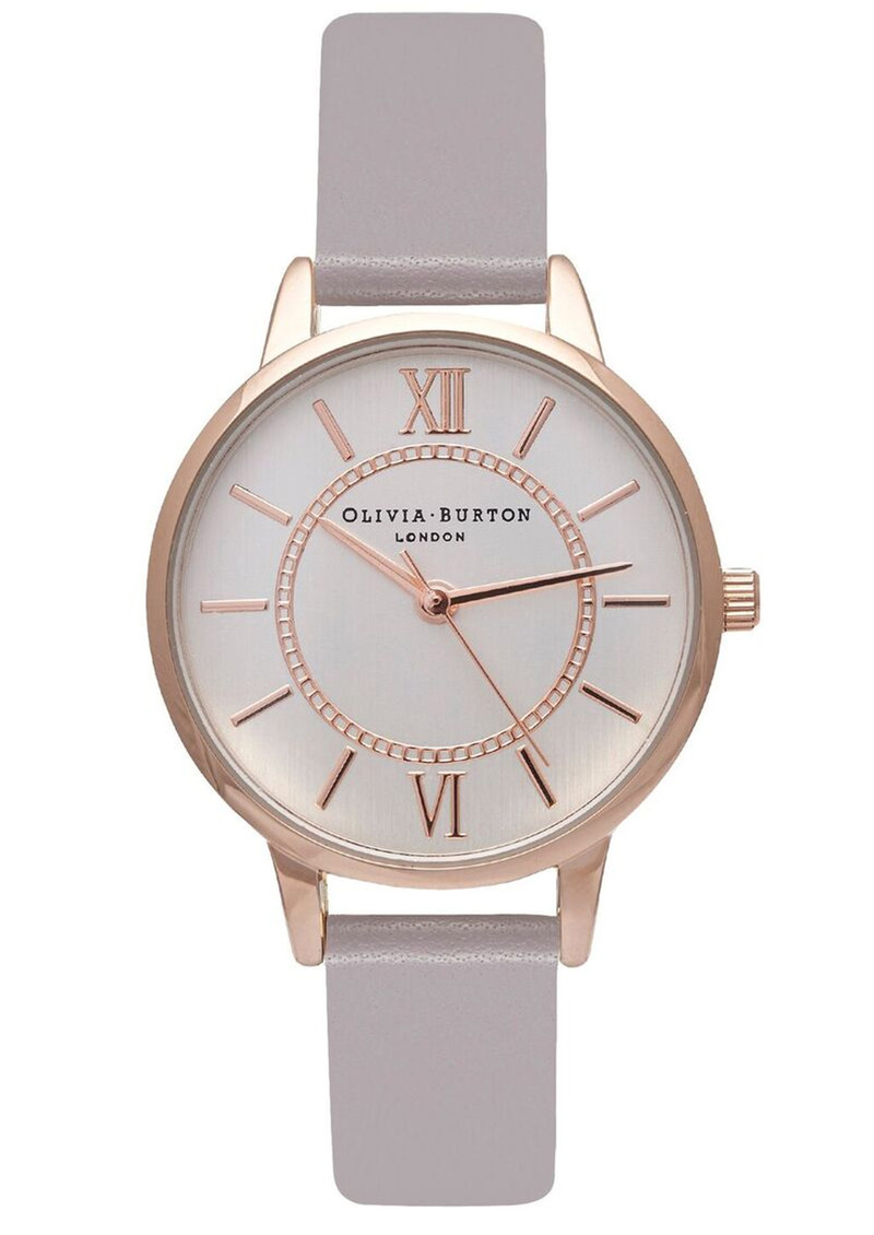 Olivia Burton Wonderland Watch - Grey Lilac, Rose Gold & Silver main image