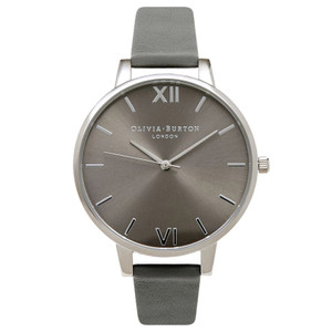 Big Dial Grey Dial Watch - Grey & Silver