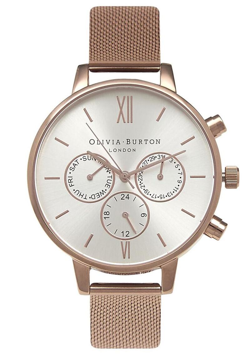 Olivia Burton Chrono Detail Mesh Watch - Rose Gold main image