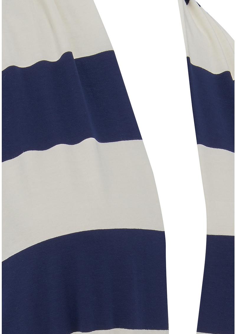 NADIA TARR Striped Halter Neck Jumpsuit - Navy & White main image