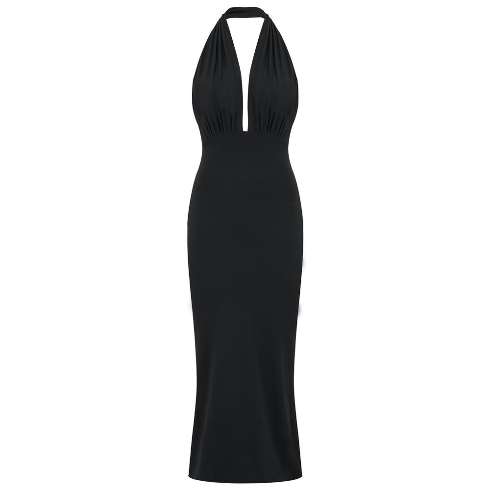 Halter Pencil Dress - Black
