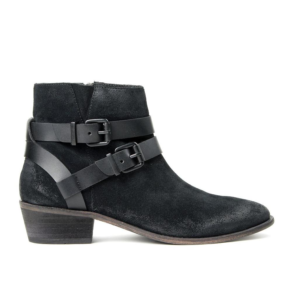 Meeya Suede Ankle Boot - Black