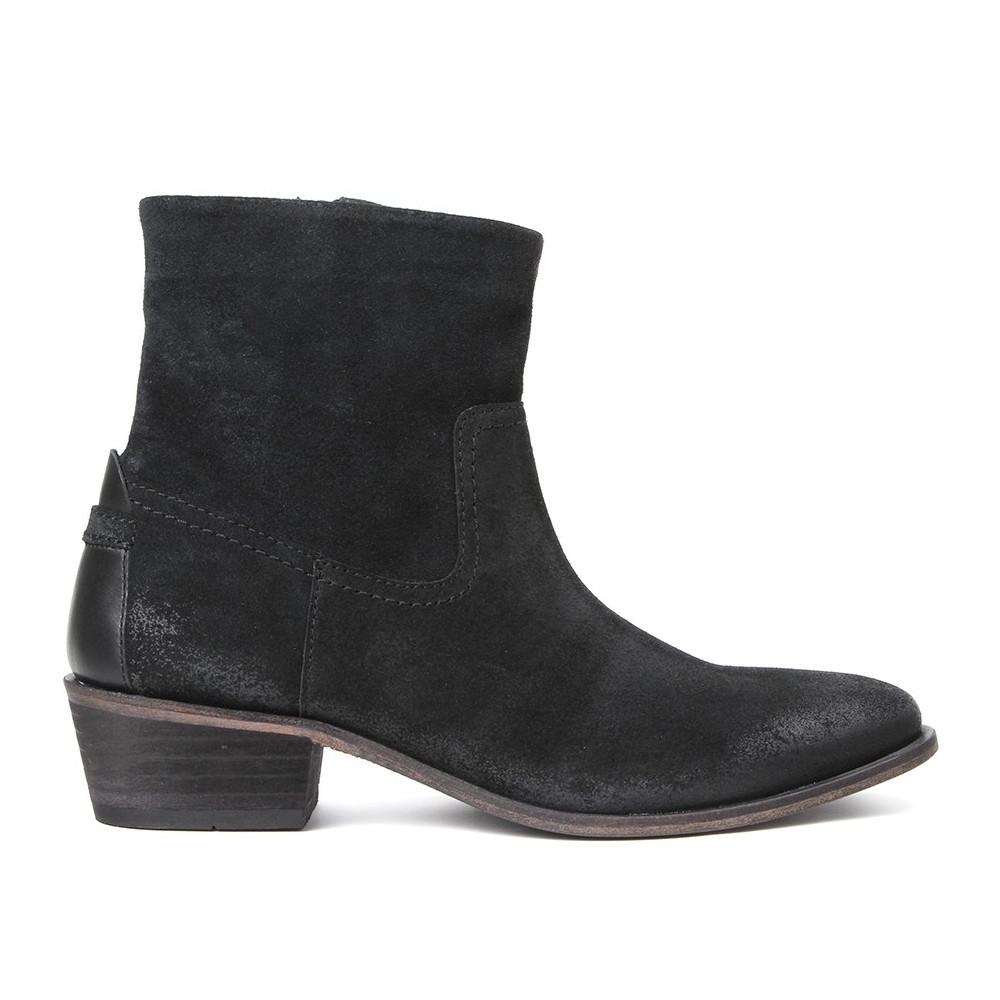 Laya Suede Ankle Boot - Black