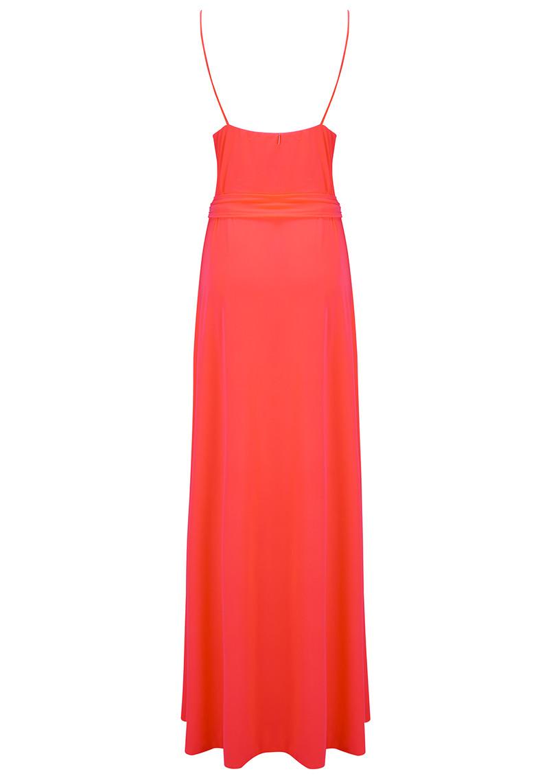 MISA Los Angeles Veronika Wrap Tie Maxi Dress - Neon Orange main image
