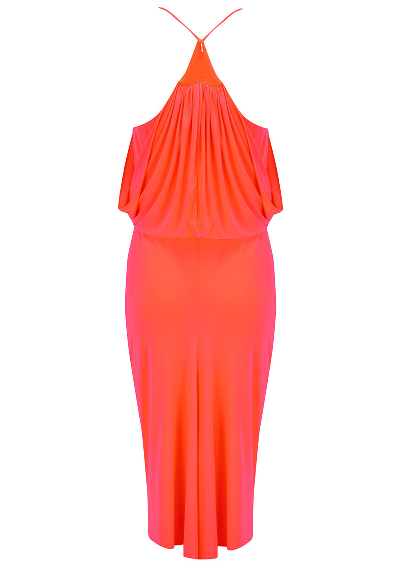 MISA Los Angeles Domino Spaghetti Strap Dress - Neon Orange main image