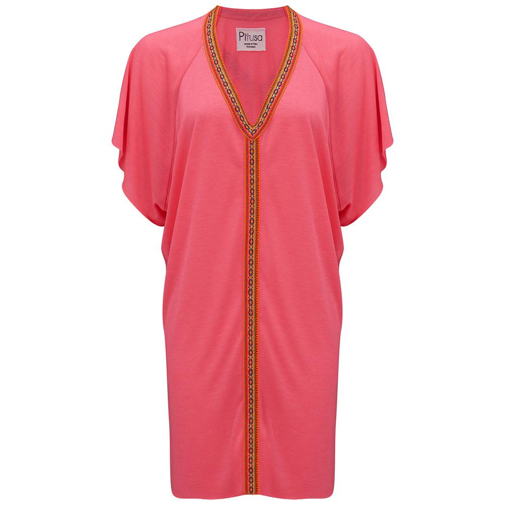 Mini Abaya Dress - Hot Pink