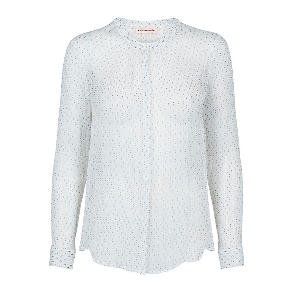 Nicolina Silk Shirt - Whisper White