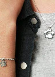 ChloBo Newbies Diamond Cut Chain With Star Heart Pendant - Silver