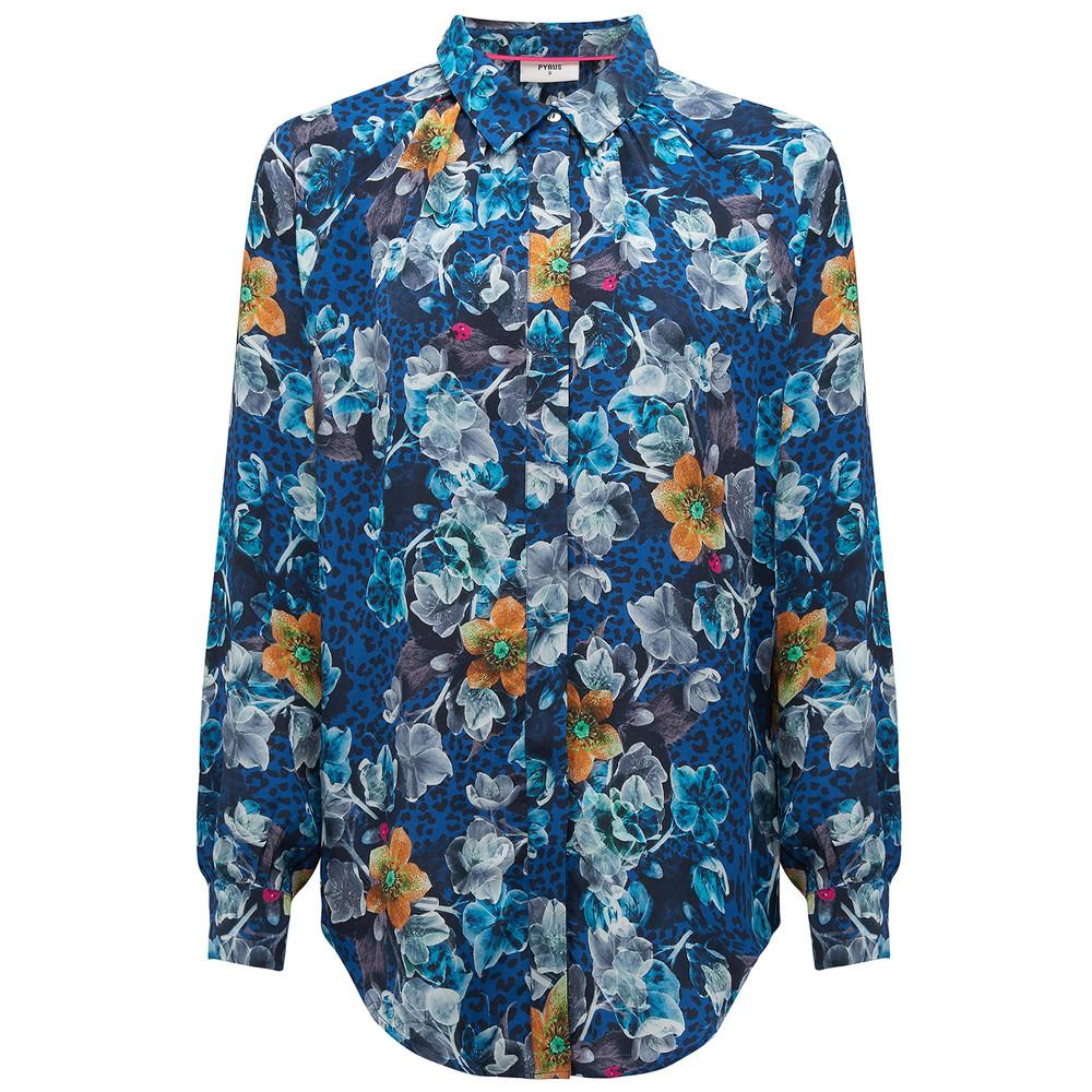 Heather Silk Shirt - Cordelia Print
