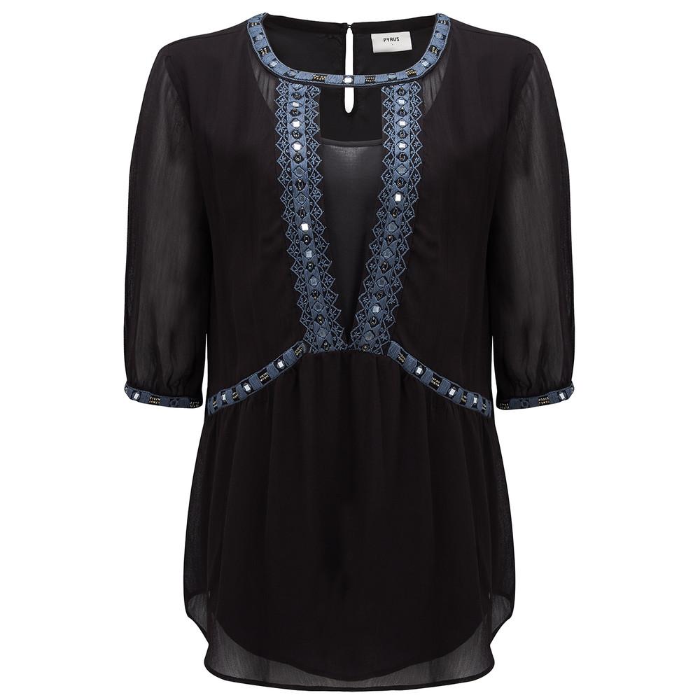 Lolita Embellished Top - Black