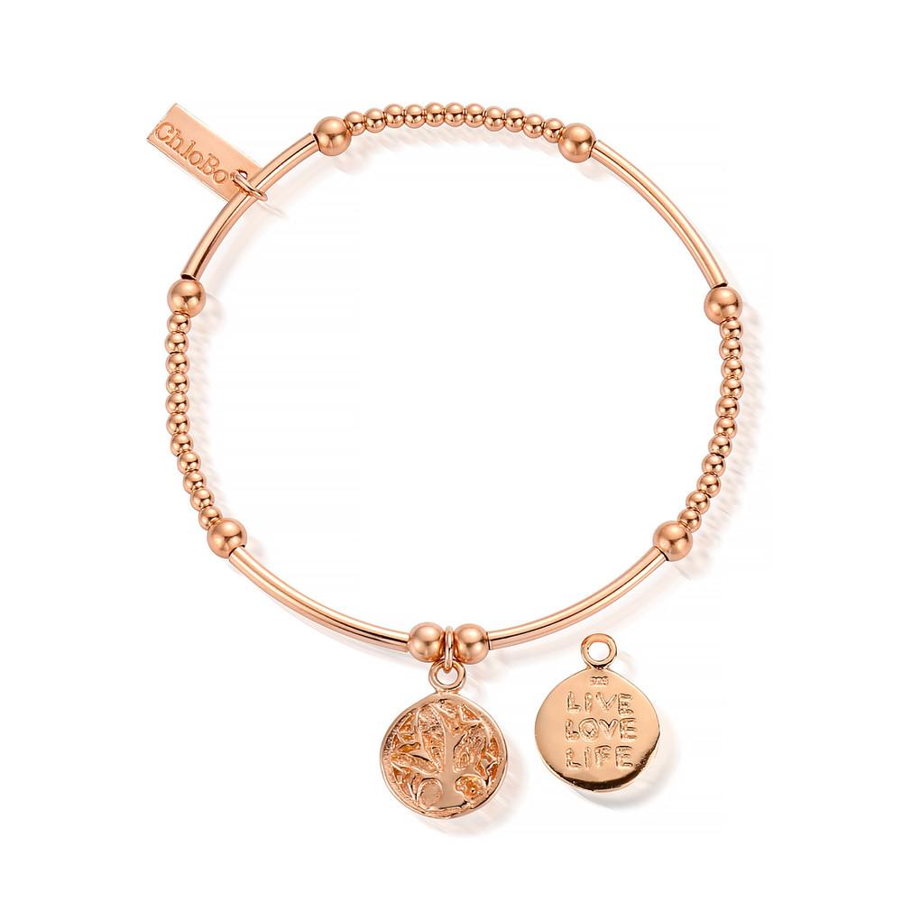 Cute Mini Live Love Life Bracelet - Rose Gold
