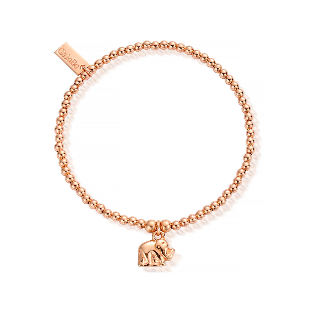Cute Charm Mini Elephant Bracelet - Rose Gold