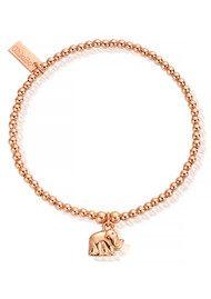 ChloBo Cute Charm Mini Elephant Bracelet - Rose Gold