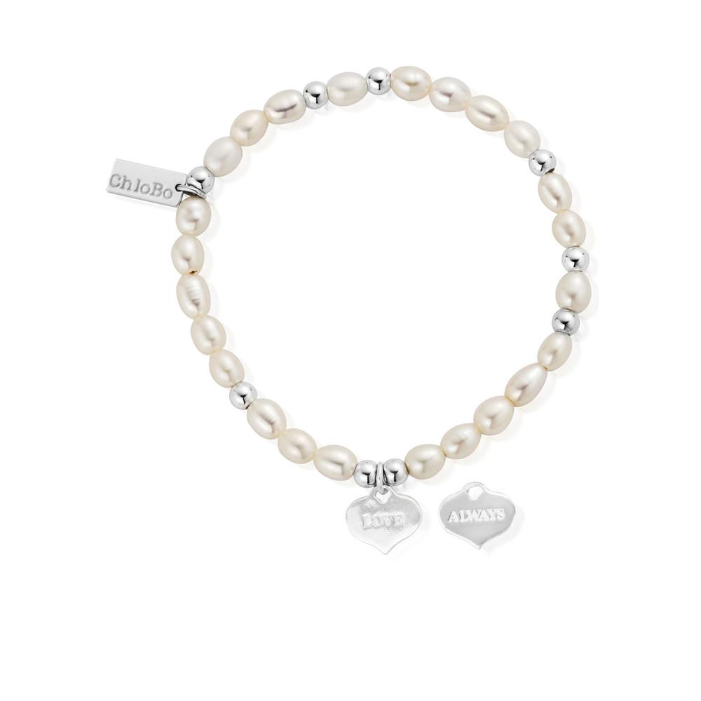 Mini Pearl Love Always Bracelet - Pearl & Silver