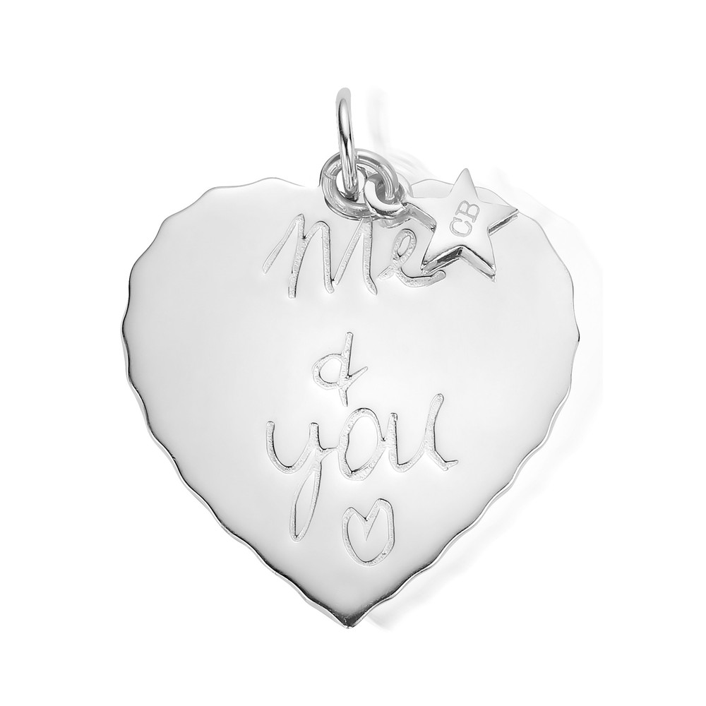 Large Me & You Pendant - Silver