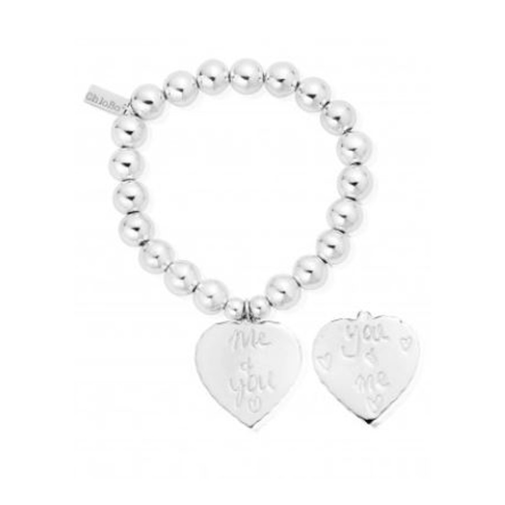 Medium Ball Bracelet You & Me Bracelet - Silver