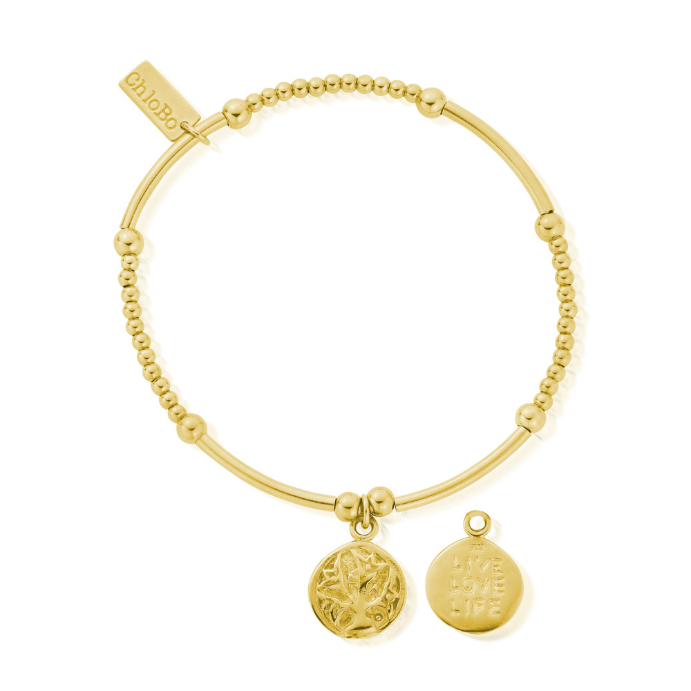 Cute Mini Live Love Life Bracelet - Gold
