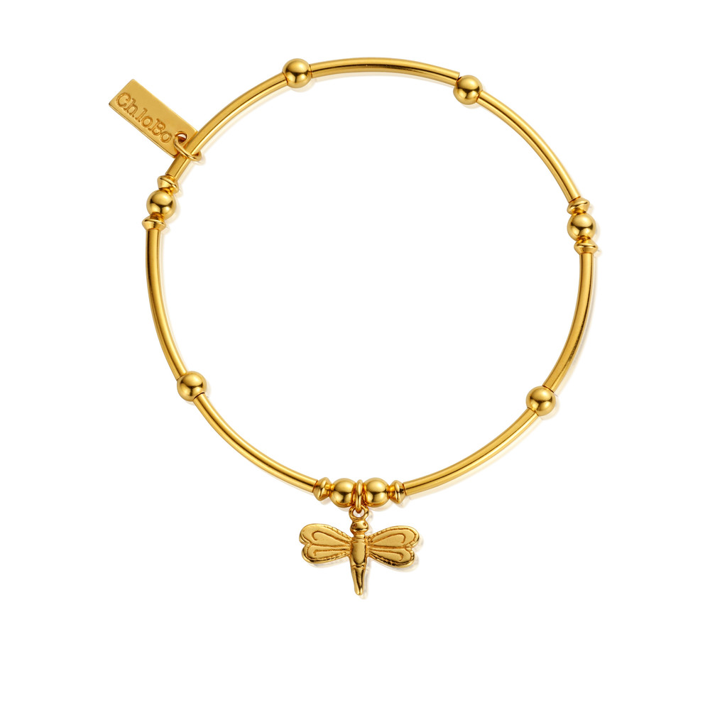 Mini Noodle Ball Dragonfly Bracelet - Gold