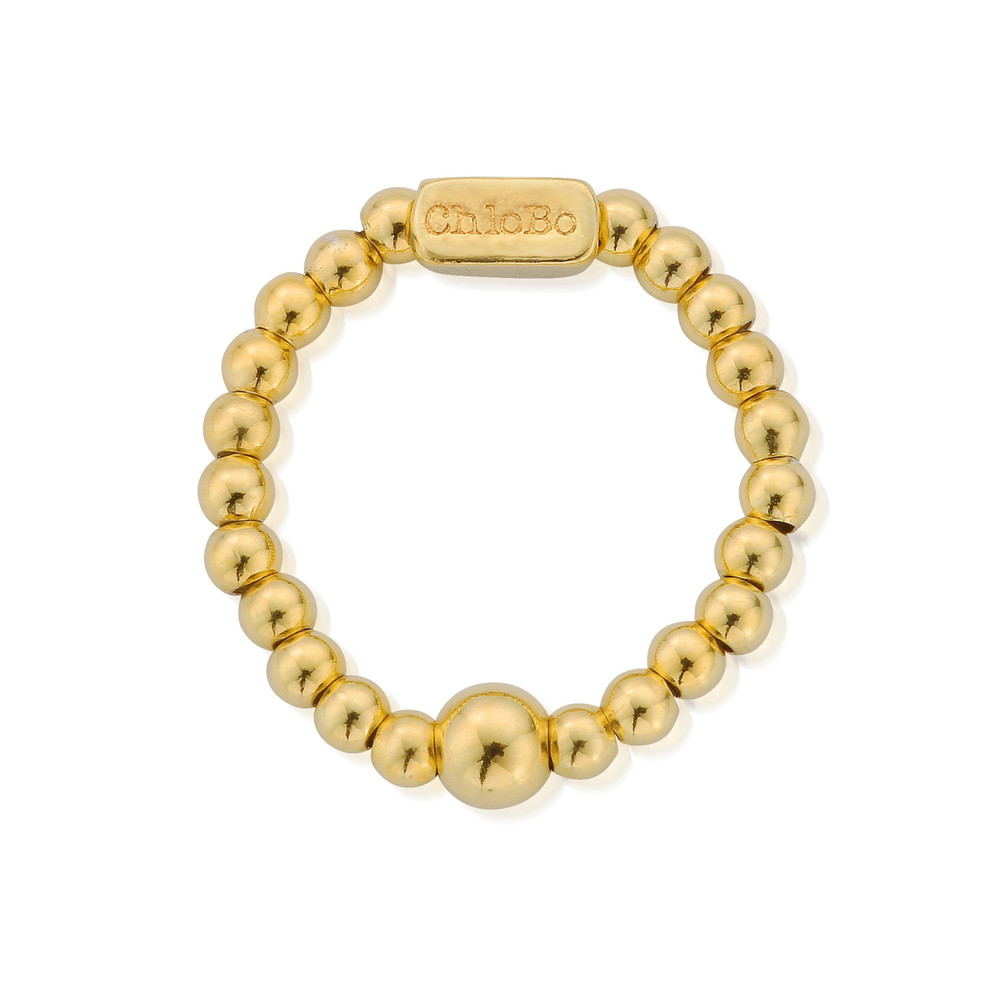 Mini Ball Ring - Gold