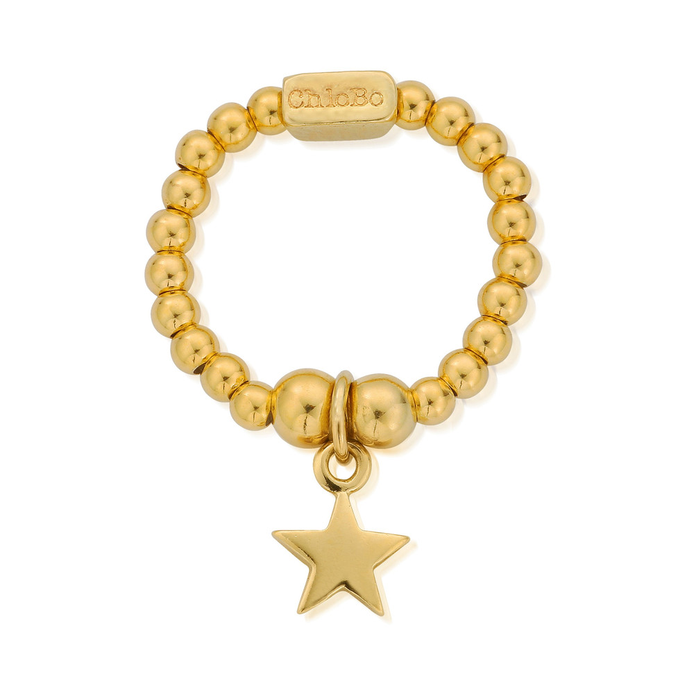 Mini Ball Star Ring - Gold