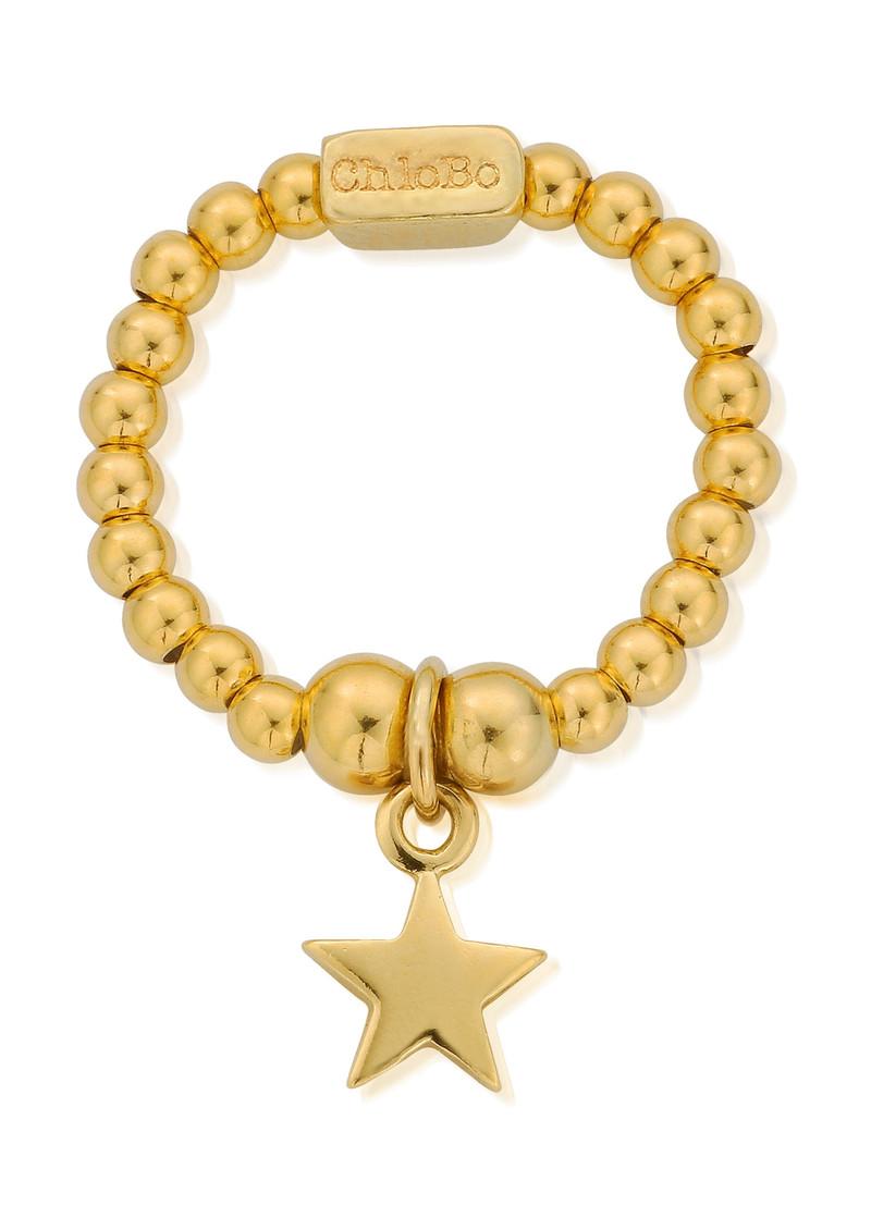 ChloBo Mini Ball Star Ring - Gold main image