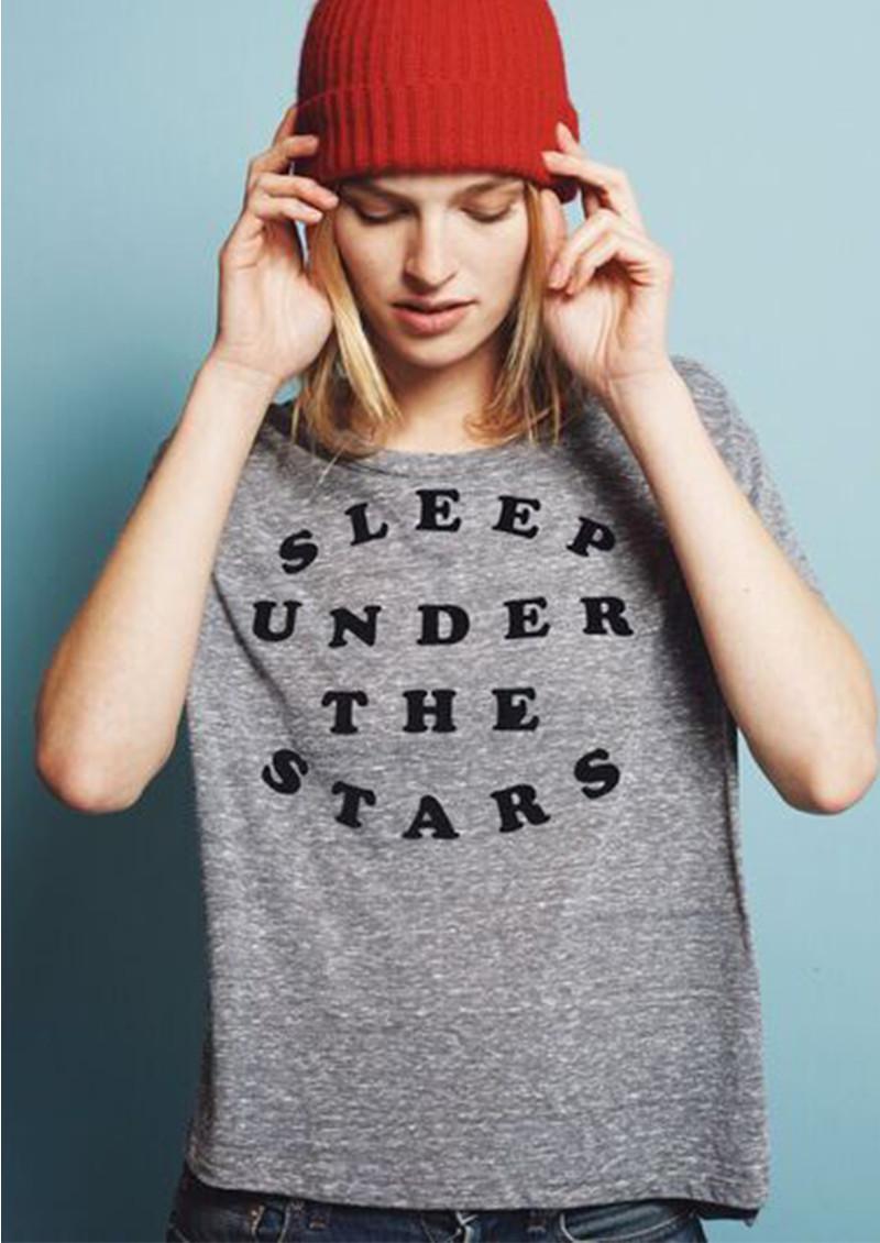 SUNDRY Under The Stars Flock Tee - Heather Grey main image